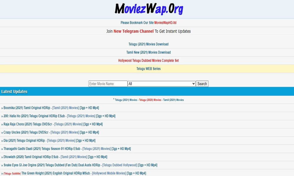 Moviezwap 2021 - Download Latest Hindi Dubbed Movies