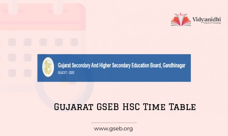 Gujarat Board 12th Time Table 2021 - GSEB HSC Exam Dates ...