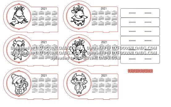 Free CDR Vector 2021 Calendar - DXF DOWNLOADS - Files for ...