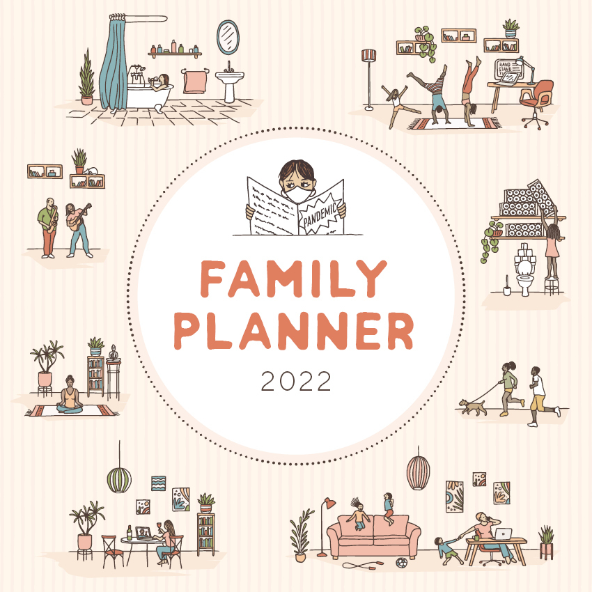 2021 Calendar Family Planner Square Wall Calendar by Paper ...