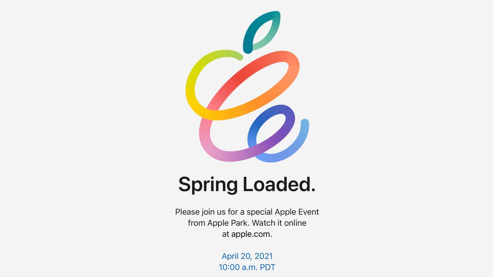 Apple announces 'Spring Loaded' virtual event for April 20 ...